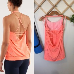 Lululemon | Flow And Go Tank II Pop Orange